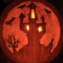 Castle on a hill - pumpkin carving