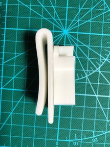Hot Glue the Holder and Clip.