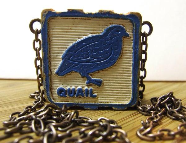 Vintage Wooden Block Necklace