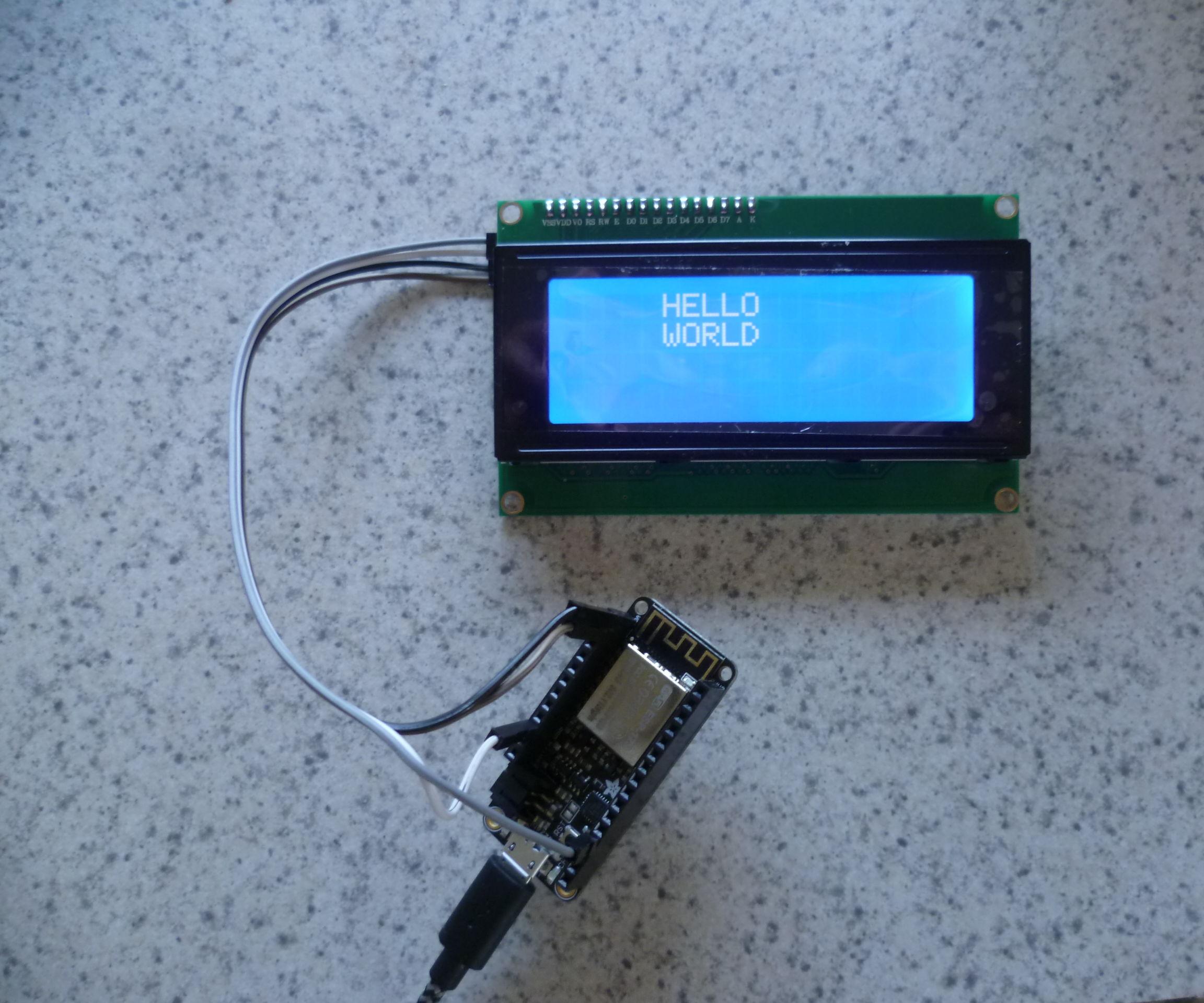 I2C LCD ESP8266