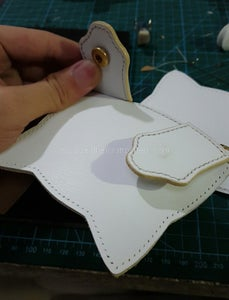 Now We Can Glue 2 Claws, Fold Front and Back Leather, Sew Pre Sewn Claws On, Here Please Notice That, When You Pre Sew Claw, Left an Opening, We Should Sew the Opening With Zipper.