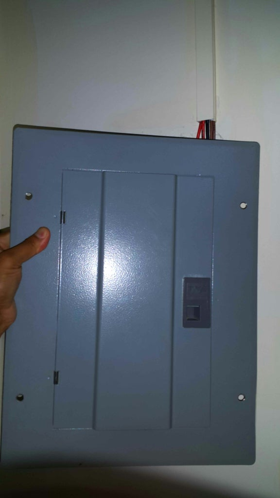 Opening the Panelboard.