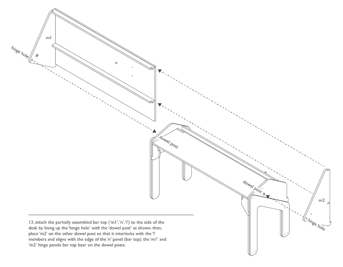 Assembly: Folding Bar Top