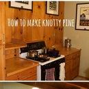 How to make knotty pine look like Sheetrock