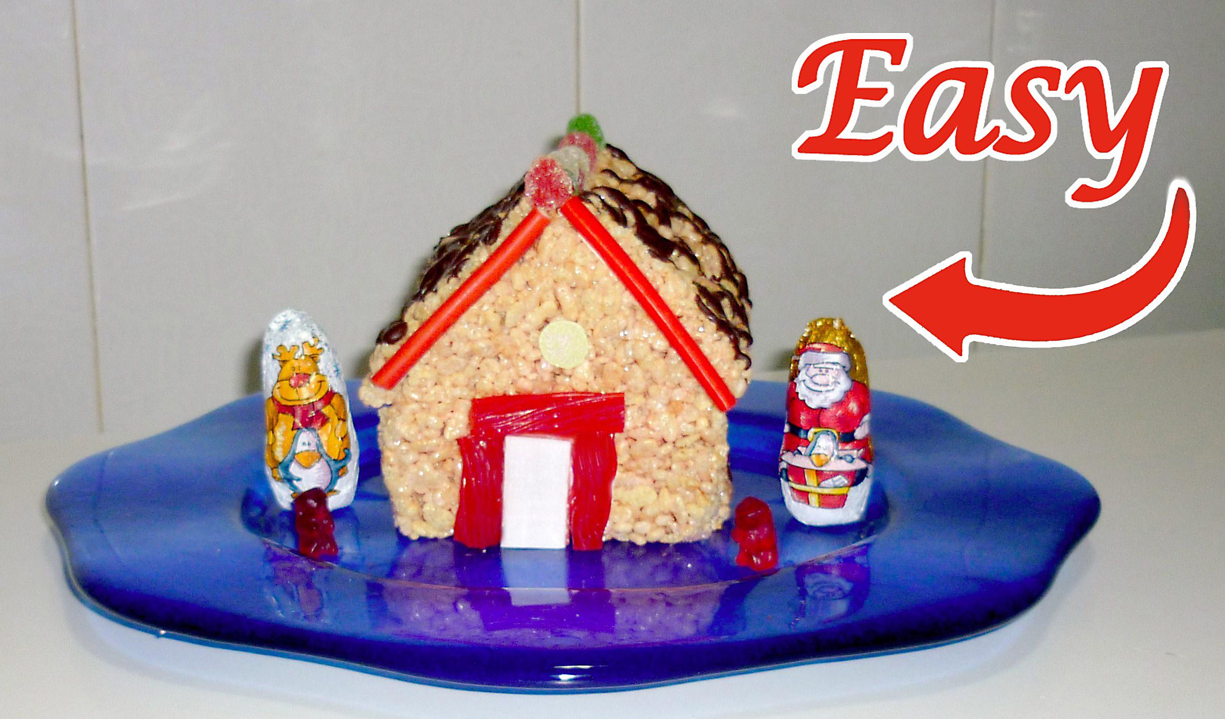 Christmas treat - Rice krispies house!!