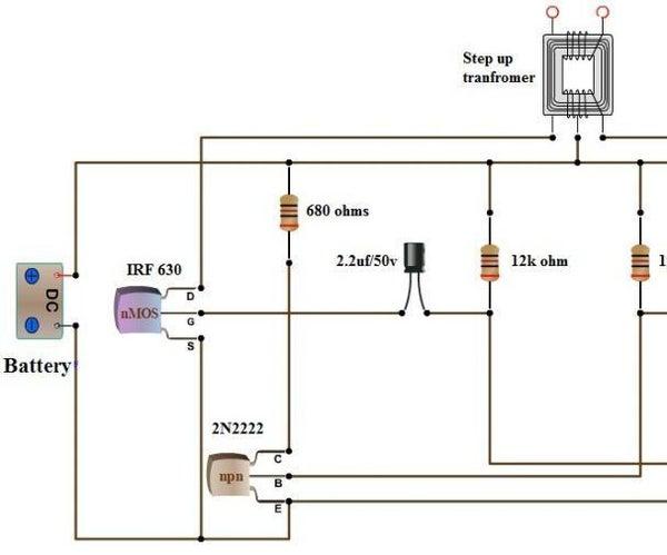 Simple Dc to Ac Inverter Make