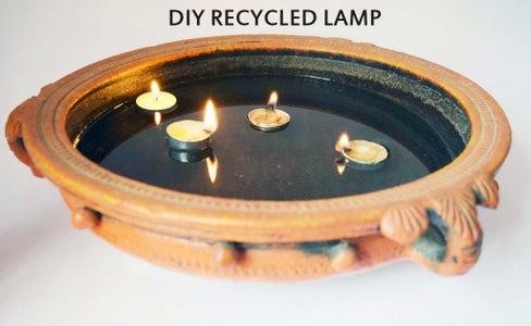 DIY Recycled Lamp