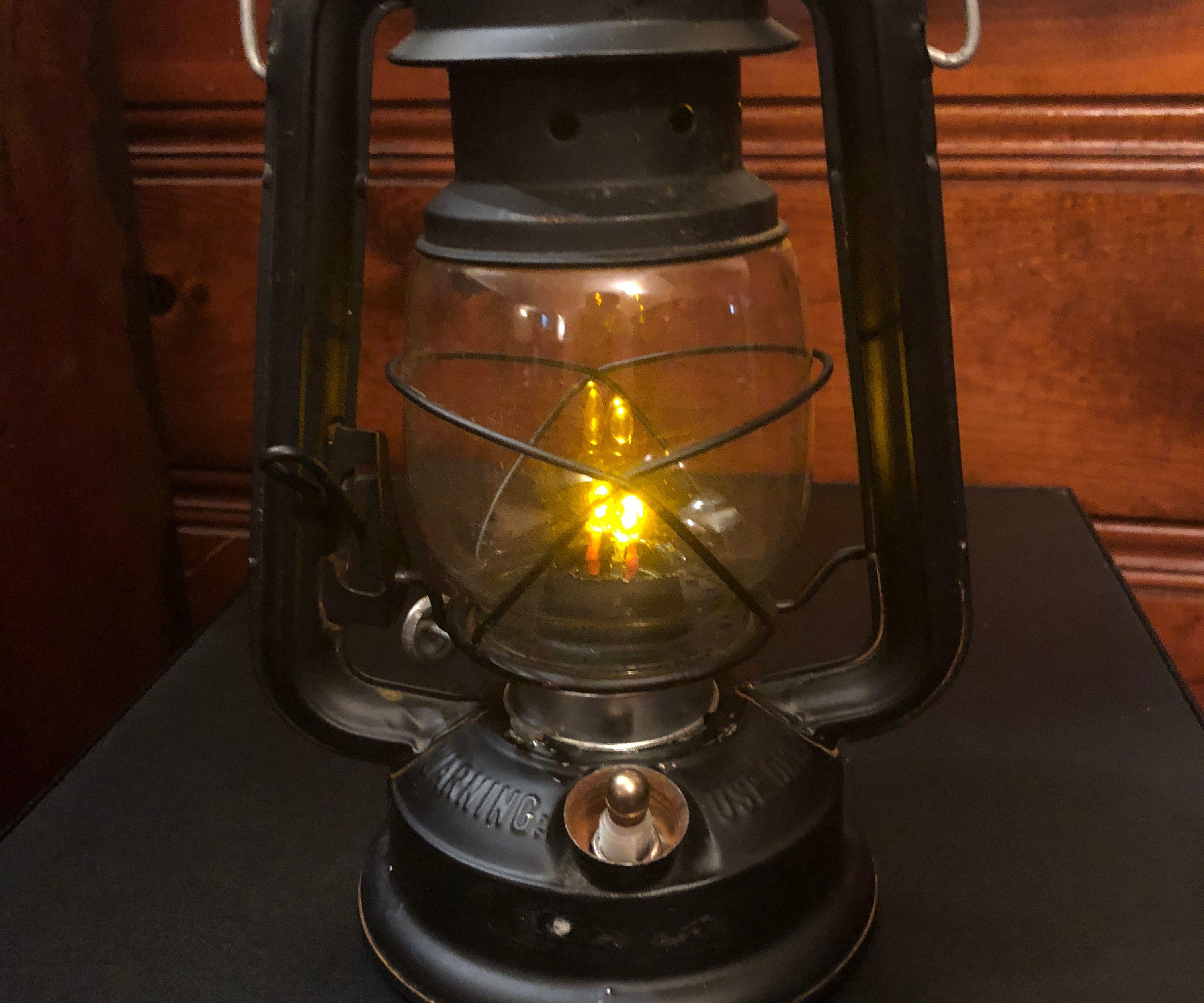 Convert Lamp From Kerosene to Flaming LEDs