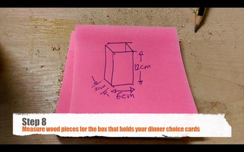Making the Menu Card Box