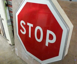 How to Make a Shelve With a Stop Sign