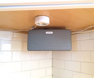 Mount a Speaker Under a Cabinet