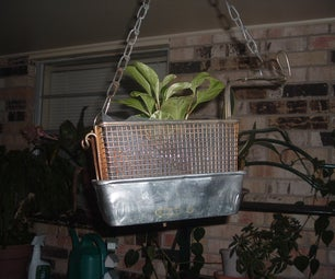 Recycled Hanging Flower Planter.