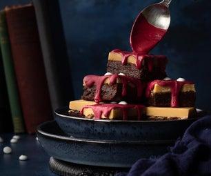 Spooky Halloween Millionaire Brownies