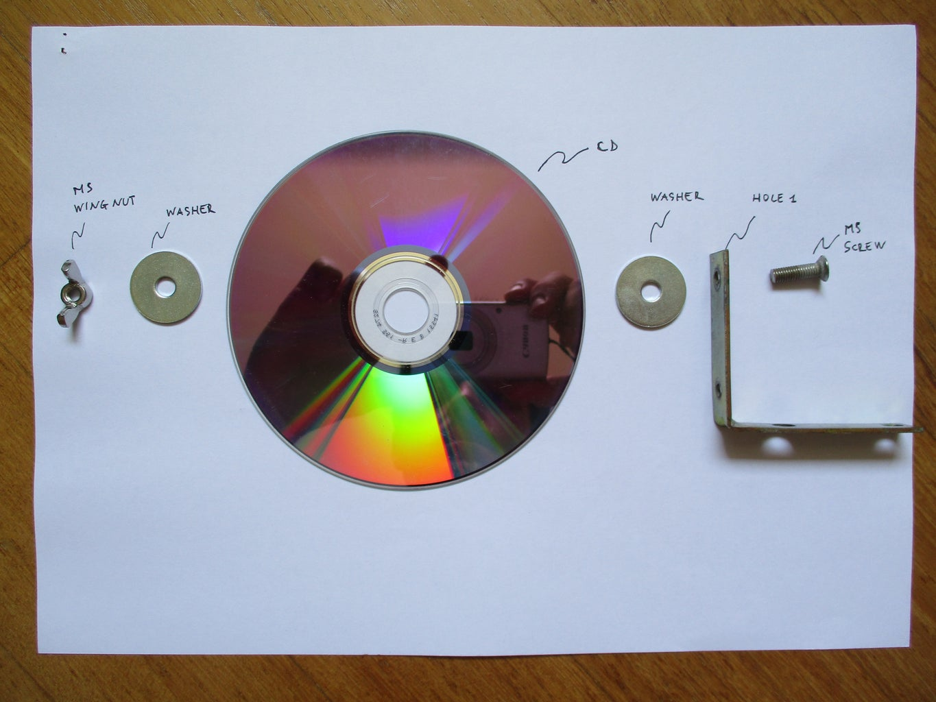 Connect CD to the Bracket