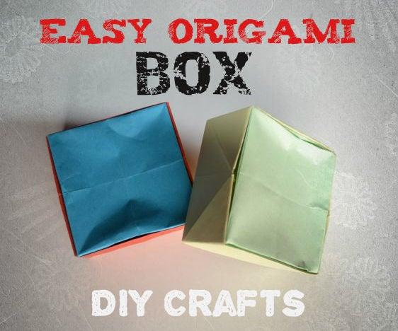 DIY Crafts Tutorials - Easy Origami Box