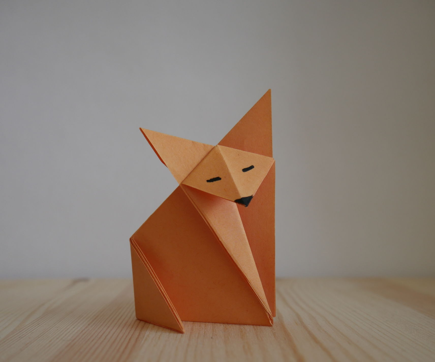 Origami. How to Make a Fox.