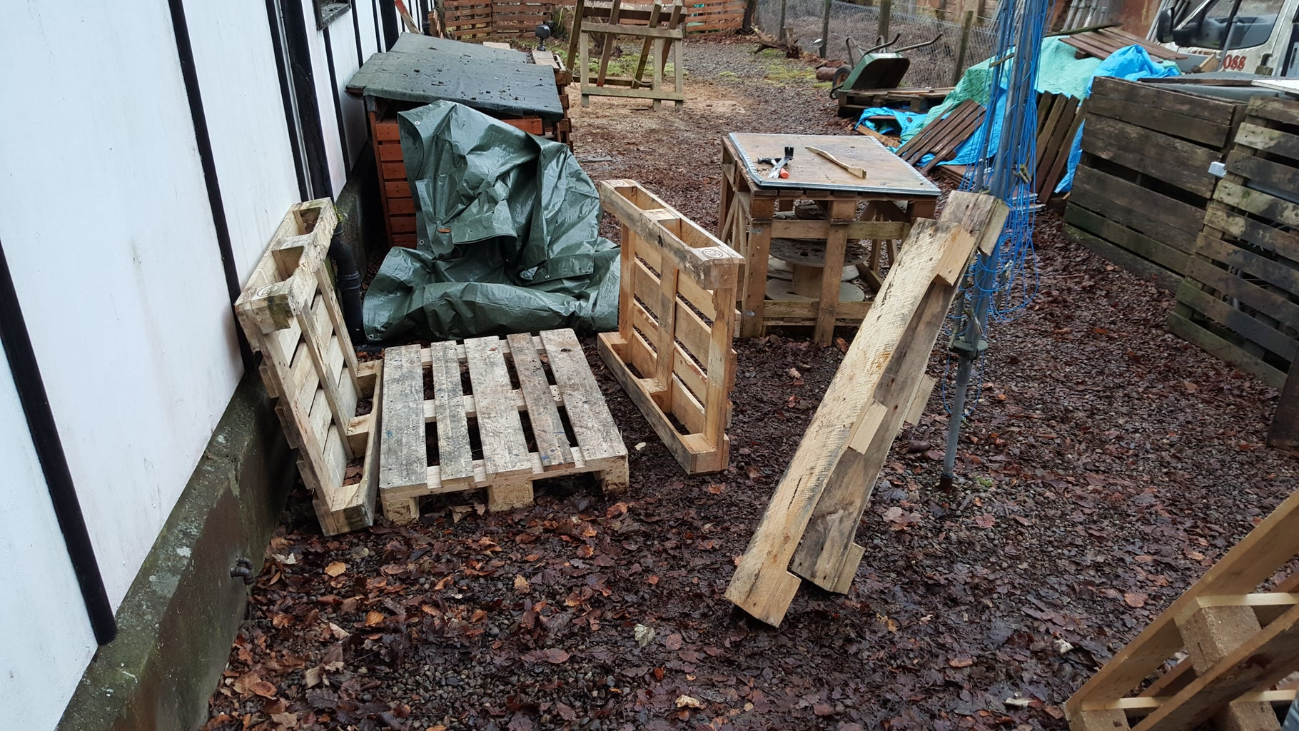 Euro Pallet Log Shed - 7 Foot High Approx