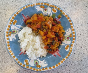 Vegan Dutch Oven Sweet Potato and Lentil Curry