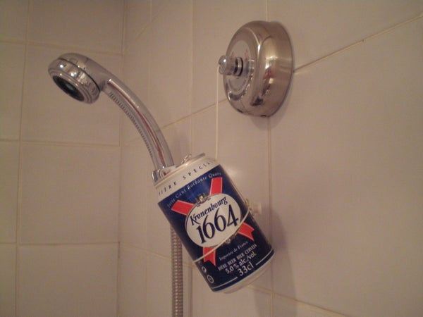 Keep Your Beer From Getting Showered While in the Shower Part 1: Make Yourself Smell Like Roses While Stopping to Smell Them.