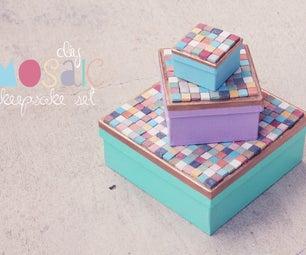 DIY Mosaic Keepsake Boxes