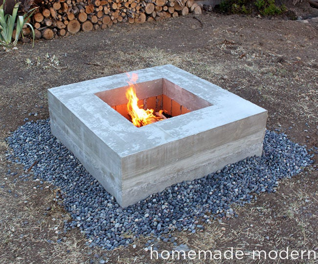 Homemade Modern Diy Concrete Fire Pit 22 Steps With Pictures Instructables