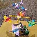 "Origami Cranes ""Gear-less"" Automata"