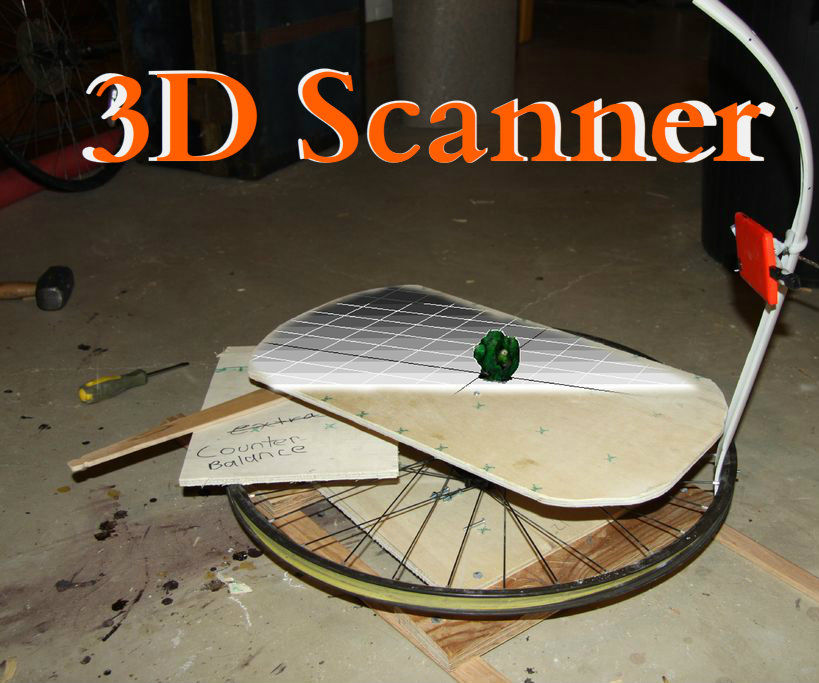 Make a 3D Scanner From a Cell Phone and Bicycle Wheel