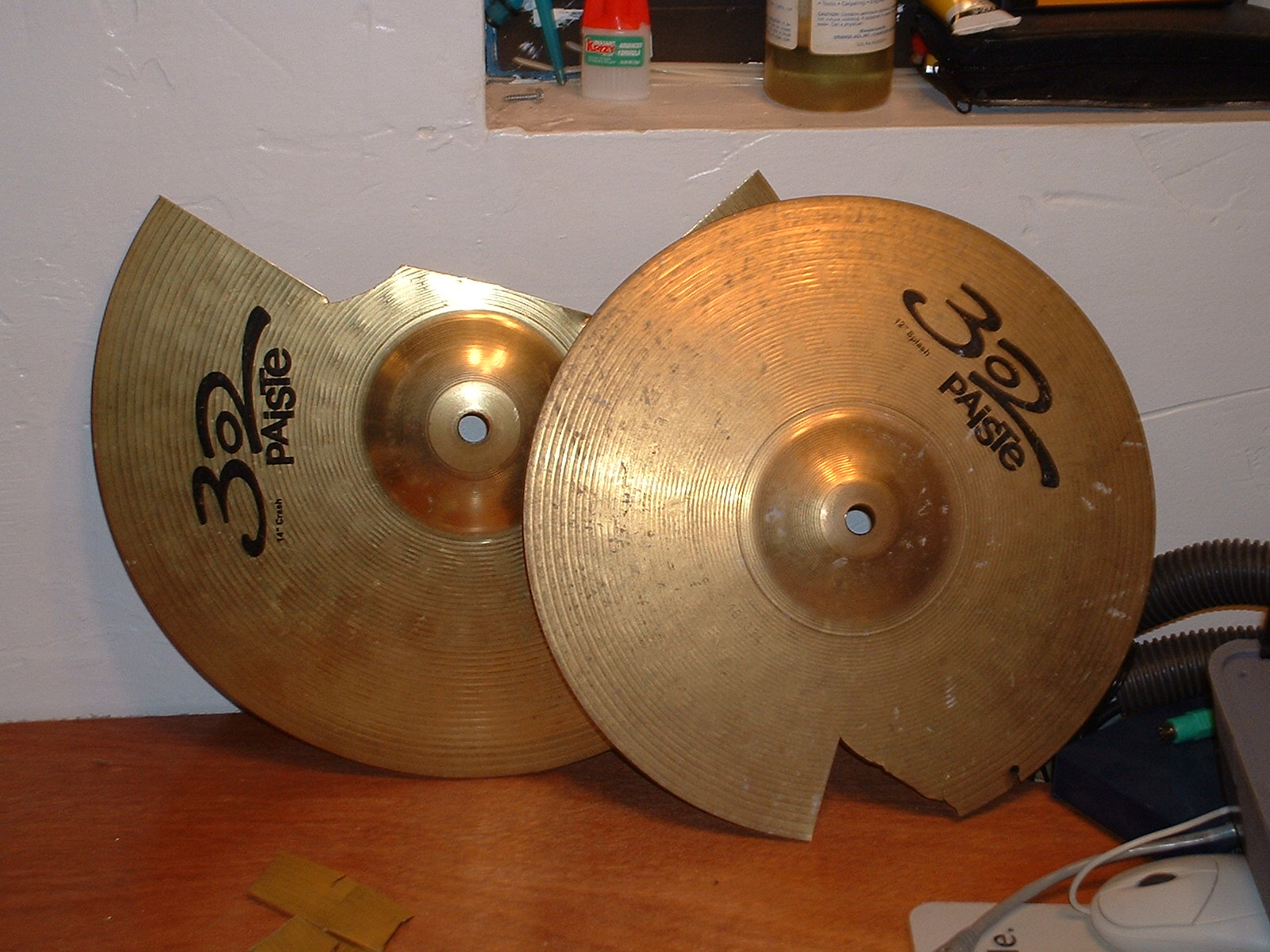 Make brass guitar picks from an old cymbal