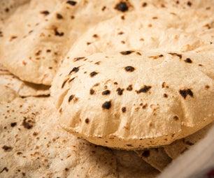 如何在家里制作柔软的chapati?