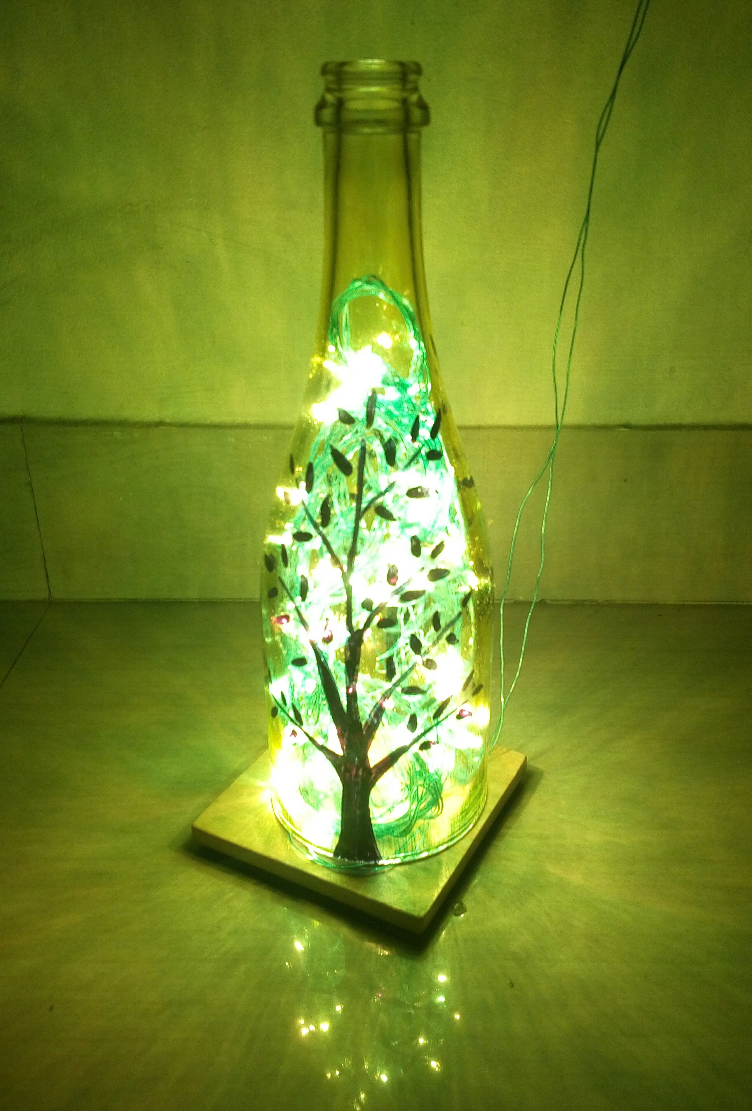 Simple Glass Bottle Lamp