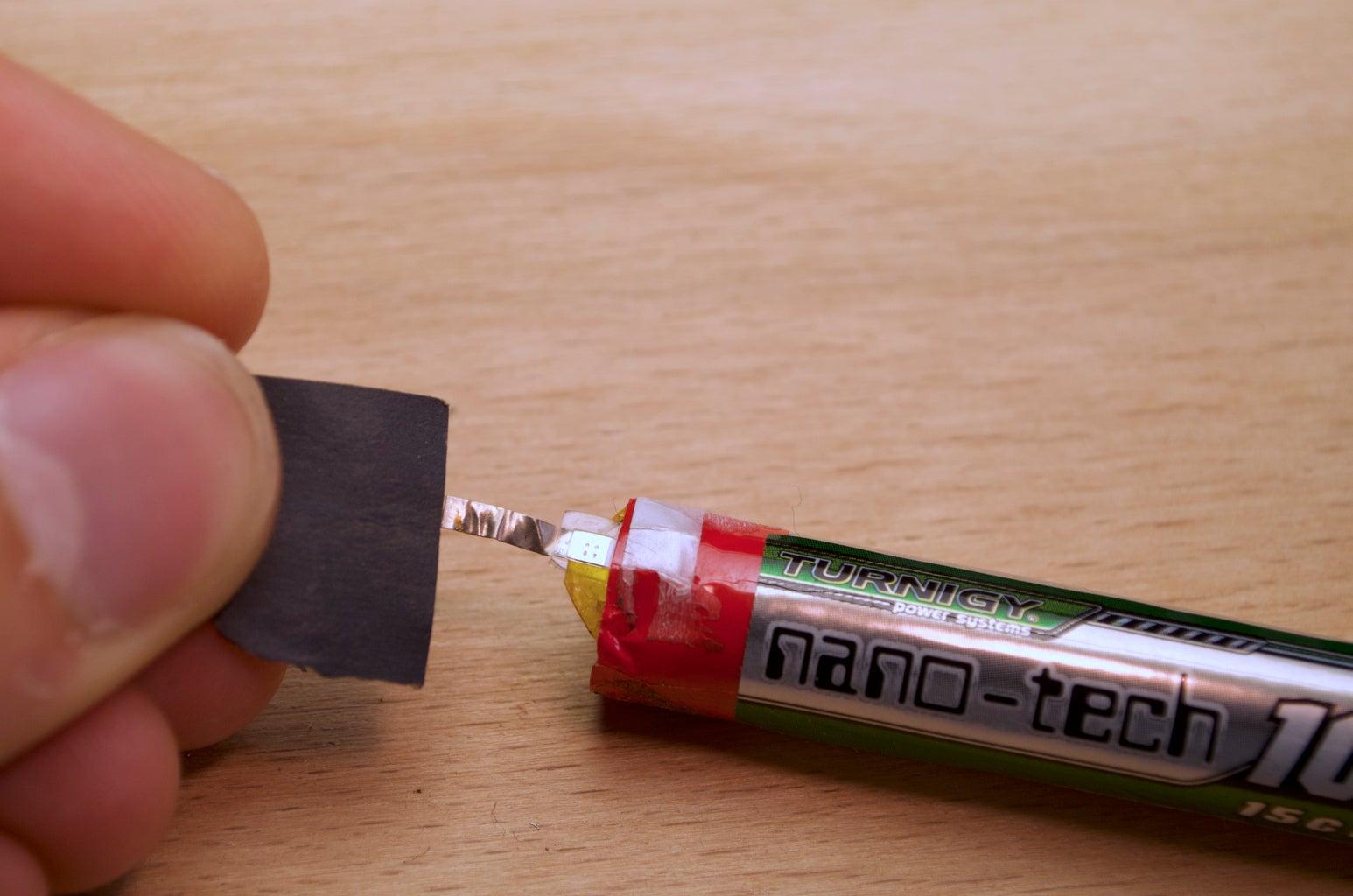 Soldering: Battery