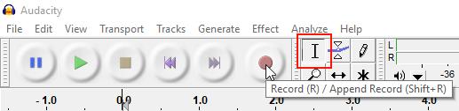 Audacity Test Record