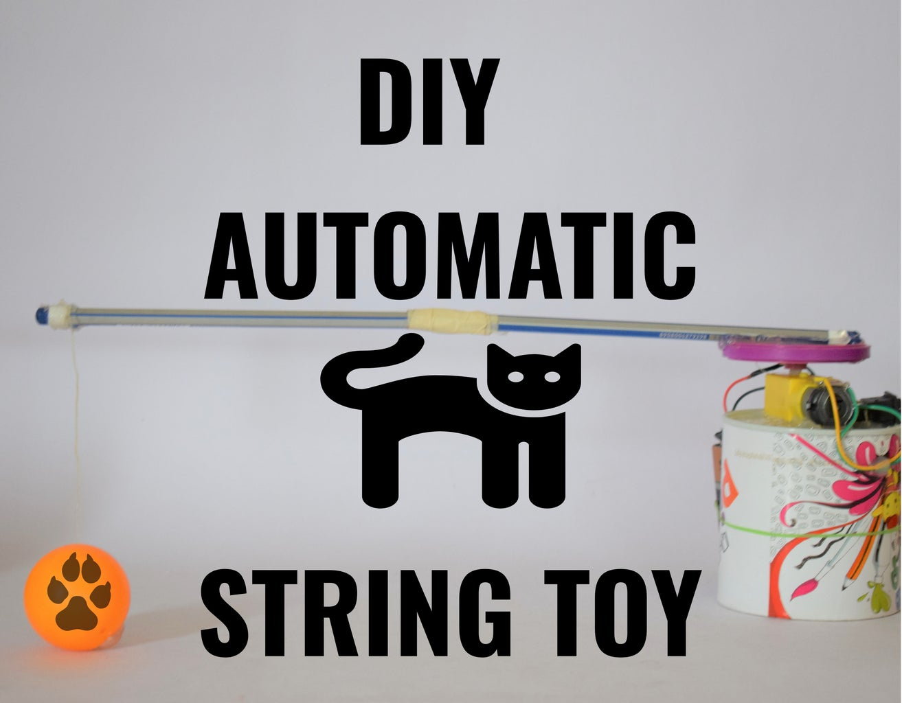 Motorized String Toy for Cats