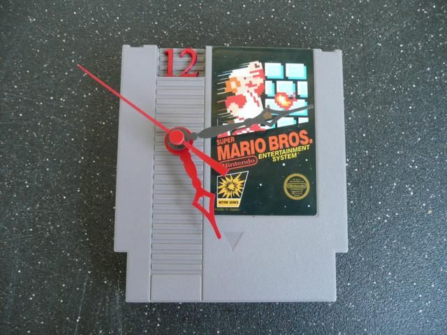 Nintendo Entertainment System Cartridge Clock