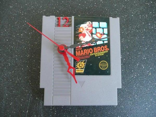 Nintendo Entertainment System Cartridge Clock