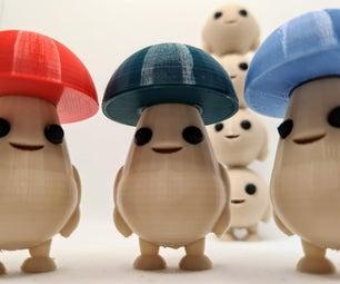 How to Make Shroomies! - Cute Mushroom Figures (3D Printing/Tinkercad)