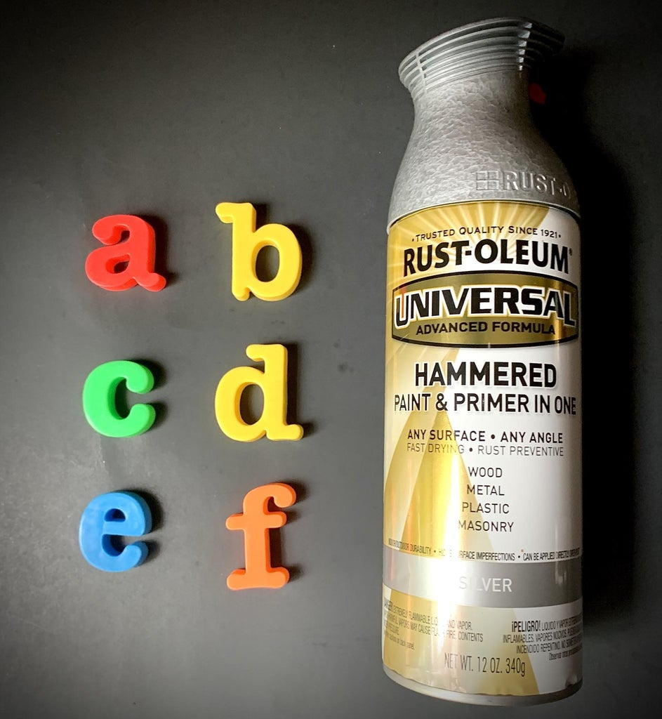 Industrial Style Primary Letters