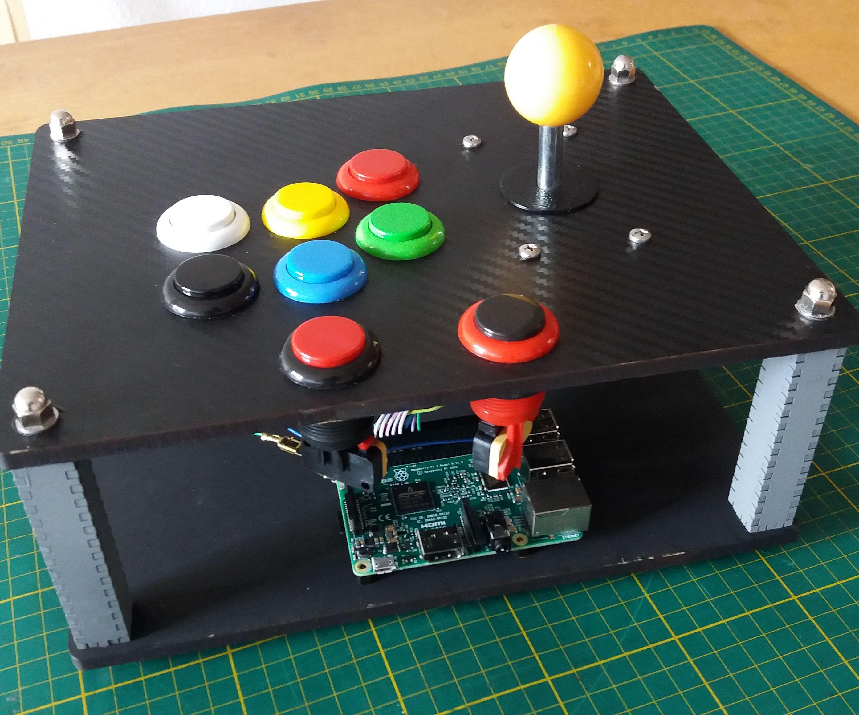 Joystick Arcade Raspberry - Garagem FABLAB
