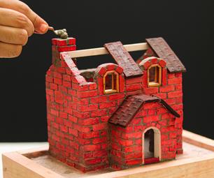 Mini House Model Bricklaying