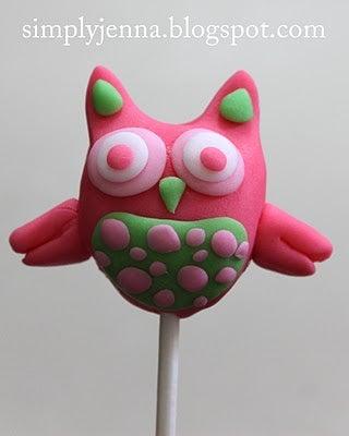 Valentine Fondant Owl Pop