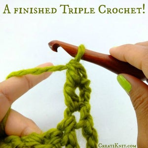 You Now Have a Finished Triple Crochet!