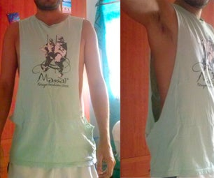 Make a Tank Top for Man (maybe Recycling a Damaged T-shirt).