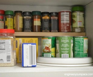 小厨房想法:在上层柜中添加额外的架子