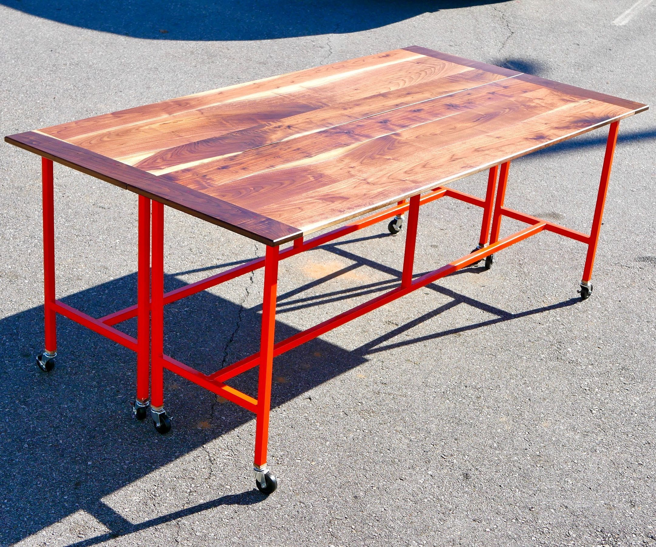 How To Build A Conference Table / Dining Table w/ Walnut & Steel