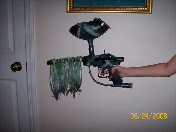 """""""Ghillied Up"""" How to Make a Ghillie Paintball Gun"""