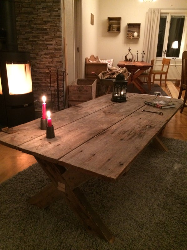 Table Made Out of a 100 Year Old Door