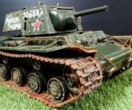 Weathering KV1 Rc Tank