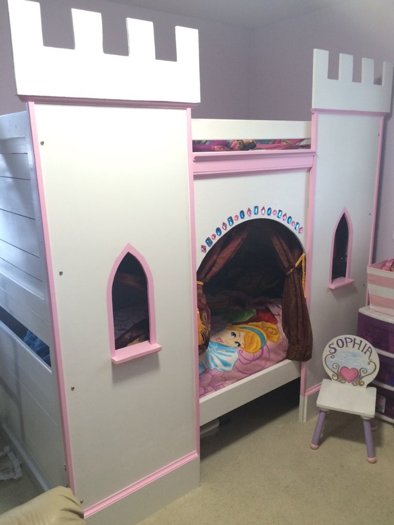 Princess Castle Bunk Bed 12 Steps With Pictures Instructables