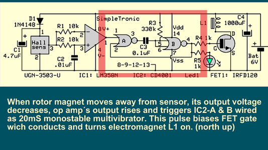 20mS Monostable  ( Electromagnet  ON Time )