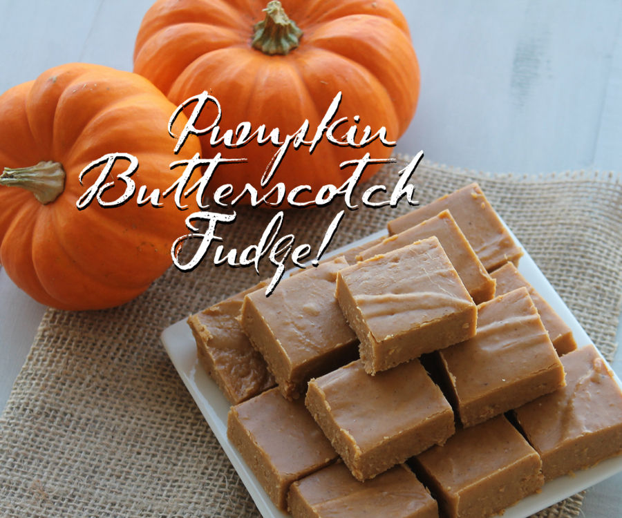 Pumpkin Butterscotch Fudge